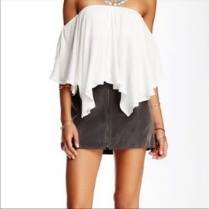 Free People Get into the Groove Faux Suede Skirt 6